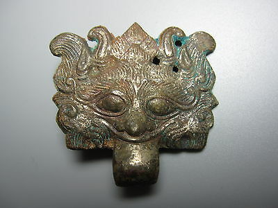Ancient Chinese Han Dynasty Bronze TAOTIE mask fitting 206 BC-AD 220