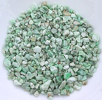 1/2 Ounce Natural Green Chrysoprase Nugget Craft Grade 1/4 Inch And Less Rough
