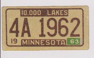 "1963 Wheaties Cereal Minnesota 4"" x 2"" License Plate Glitter Sticker"