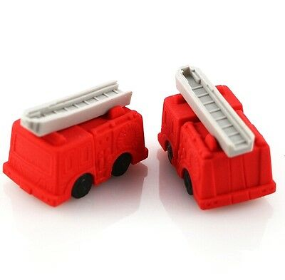 FD3874 Removable Fire Engine Eraser Rubber Pencil Stationery Child Gift Toy 1pc