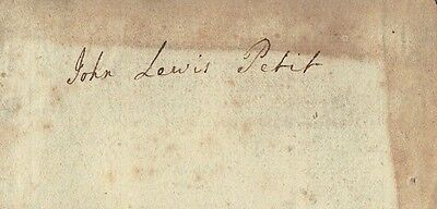 John Lewis Petit (1736–1780) Physician, Fellow of the Royal Society Autograph