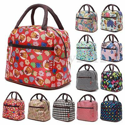 Portable Thermal Oxford Warm Cooler Lunch Box Bag Women Travel Picnic Carry Tote