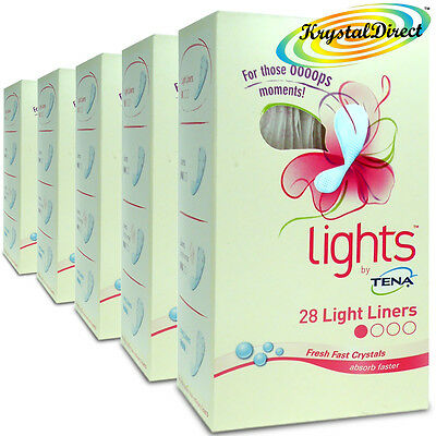 5x Lights By Tena 28 Light Liners With Feel Fresh Technology