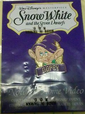 Dopey Pin Snow White And The Seven Dwarfs Video Release At Disney Store, On Card