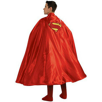 Superman Deluxe Adult Costume Cape with Embroidered Logo | Rubies 888202