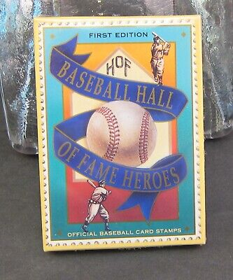 First Edition Baseball Hall of Fame Heros 1992 Collectible Baseball Cards Stamps