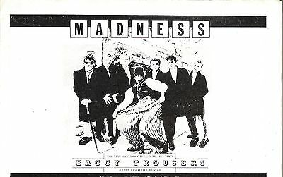 MADNESS Baggy Tousers UK magazine ADVERT / Poster 8x6 inches