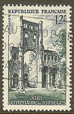 "France Timbre Stamp 985 "" Abbaye De Jumieges "" Oblitere Tb"