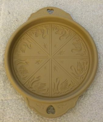 Brown Bag Cookie Art Shortbread Mold Pan 1988 Star and Swans