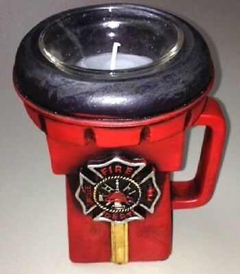 Firefighter Maltese Cross Flashlight Resin candle holder with tealight candle