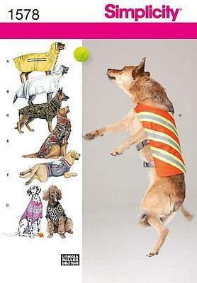 SIMPLICITY SEWING PATTERN  Large Size Dog Clothes 1578