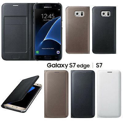 buy online 06d8b 014ce LUXURY SLIM LEATHER Folding Wallet Case Cover For Samsung Galaxy S7/S7 Edge
