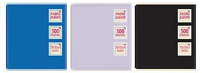 "Large Slip In Photo Storage Album Holds 500 Photos 4x6"" - 10x15cm  Photographs"