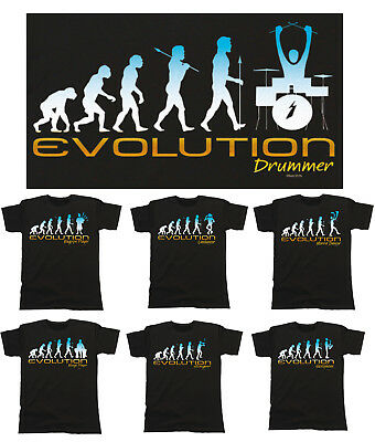 Mens EVOLUTION T-Shirt Music/Leisure *Choose Design*  Birthday Fathers Day