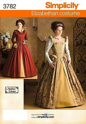 SIMPLICITY SEWING PATTERN Misses Elizabethan Costumes SIZES 6 - 20 3782