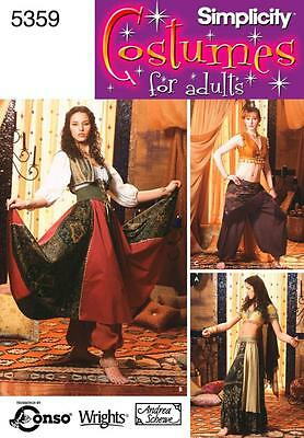 SIMPLICITY SEWING PATTERN Misses  Belly Dancing Costumes SIZE 6 - 20 5359