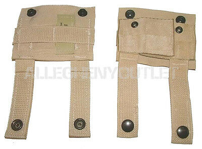 Lot of 2 K-bar Adapter, KAbar, US Military, Molle Pals Alice Clip Tan USGI NEW