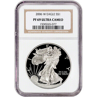 2006-W American Silver Eagle Proof - NGC PF69 UCAM