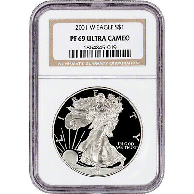 2001-W American Silver Eagle Proof - NGC PF69 UCAM