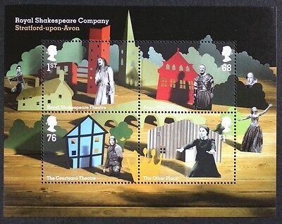 GB GR. BRITAIN 2011 MS3179 Royal Shakespeare Company Mini Sheet Mint NH S/S
