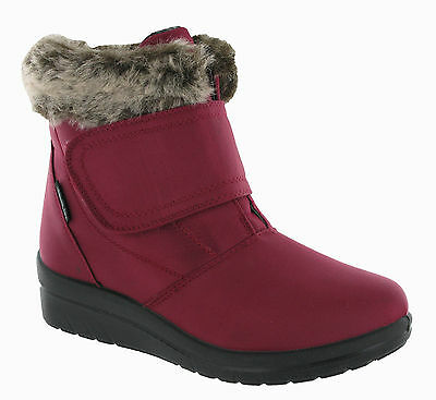 Snow Boots Ladies Warm Snug Fashion Comfort Womens Ankle Boots UK 3-8
