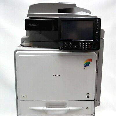 Ricoh Aficio C400SR Letter Color Laser MFP Copier Printer Scanner Finisher 40ppm
