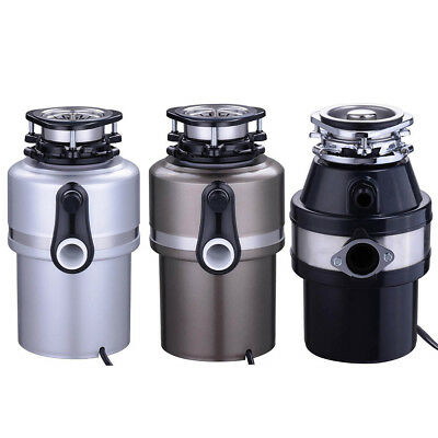 Garbage Disposal Continuous Feed Home Kitchen Food Waste w/ Plug 370W 560W Opt