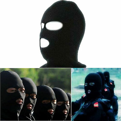 Balaclava Motorcycle Neck Winter Ski Full Face Mask Cover Hat Cap Black GH
