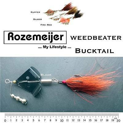 4 Stück Rozemeijer Weedbeater Bucktail Grosshechtspinner   Super Deal