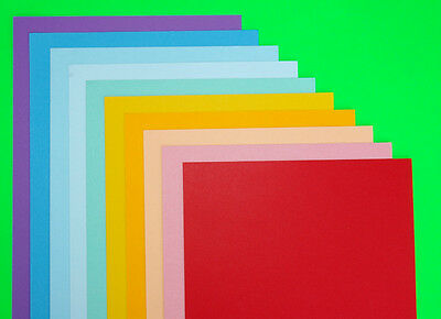10 Sheets A4 COLOURED CRAFT CARD DOUBLE SIDED CHOOSE FROM 40 COLOURS