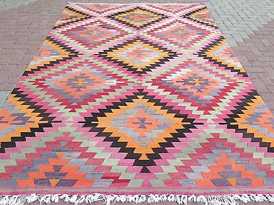 "Vintage Turkish Kilim Rug,Antique Rug,Large Rug 81,8""x118,1"" Area Rug,Carpet"