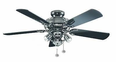 Fantasia Gemini 42in Ceiling Fan and Light Pewter Black with Black Blades 111849