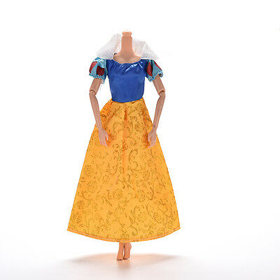 """New 1 Pc Party Grown Doll's Dress For Snow White Barbies 11"""" Dolls Nice WF"""