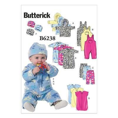 Butterick  Sewing Pattern Infants' Jacket,overalls Pants Bunting Hat Nb-Xl B6238