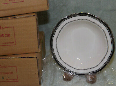"NEW Noritake GILDED PLATINUM Fruit Dessert Bowls  - 5 3/4"" sold in sets of 4"