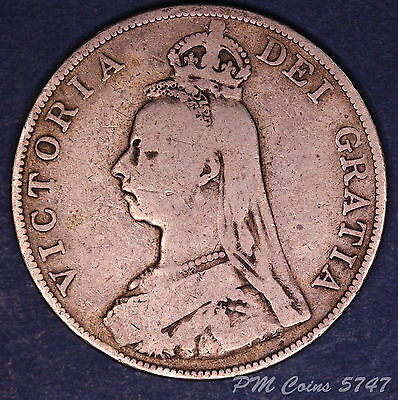 1889 Victoria Jubilee Head Silver 925, Double Florin, 4 Shilling coin [lot5747]