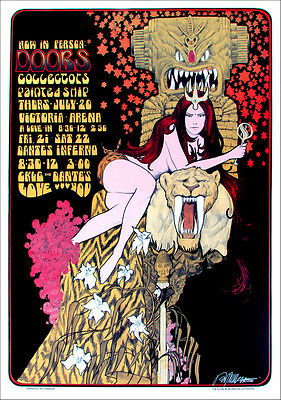 Doors Concert Tour Poster Victoria Arena 1967 Signed by Bob Masse