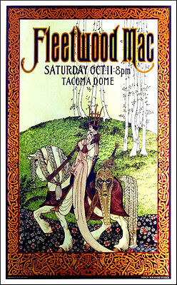 Fleetwood Mac Poster Tacoma Dome Original Lithograph Hand-Signed by Bob Masse