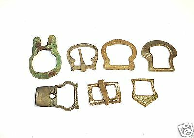 Set of 7 Ancient Bronze Buckles (#126)