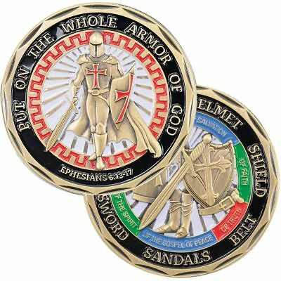 """Put On The Whole Armor Of God 1.75"""" Challenge Coin"""