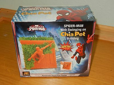 New Sealed Ultimate Spider Man Chia Pet Web Swinging On Building In Box