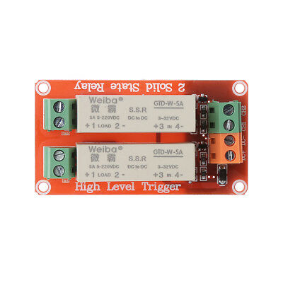 2 Channel SSR Solid State Relay High-low trigger 5A 5v12v For Arduino Uno R3 1pc