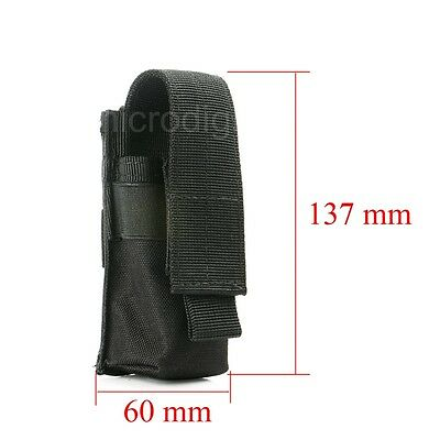 New Military Flashlight Torch Belt Holster Holder Case Pouch Black
