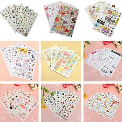 Album Scrapbook Calendar Diary Planner Card Photo Letter Stickers Decoration UK