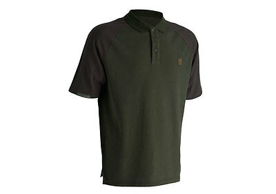 Trakker NEW Fishing Green Duo Tone Earth Polo Shirt SALE *All Sizes*