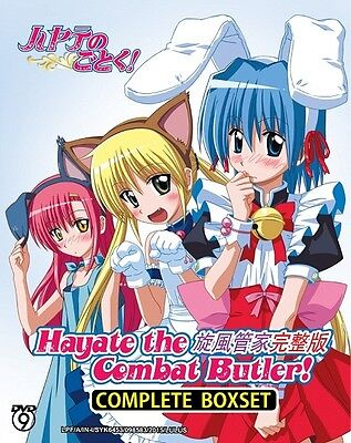 HAYATE THE COMBAT BUTLER Box Set | S1-S4+Movie | Eps.1-102 | 11 DVDs (GM0283)