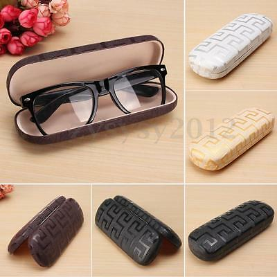 SUNGLASSES READING GLASSES HARD LEATHER CASE SPECTACLES PROTECTOR BOX Clam Shell