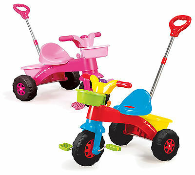 Kids My First Trike Boys Girls Ride On Bike Parent Handle Push Along Tricycle
