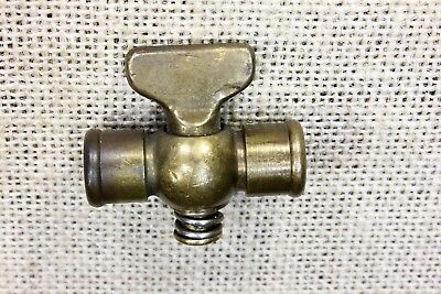 "old brass gas line valve petcock Hit Miss steam engine Tractor 1/8"" FIP vintage"