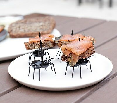 Kikkerland Set Of 20 Party Pick Ants Cocktail Food Stick Ant Buffet Accessory